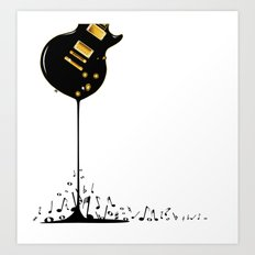 Flowing Music Art Print