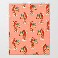 Miss Giraffe Canvas Print