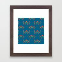 Small floral kitchen collection blue Framed Art Print