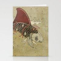 koi Shark Fin 03 Stationery Cards