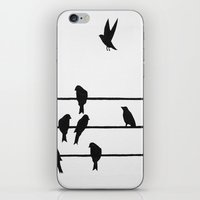 Birds On A Wire iPhone & iPod Skin