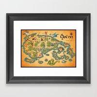 Hoenn Map Framed Art Print