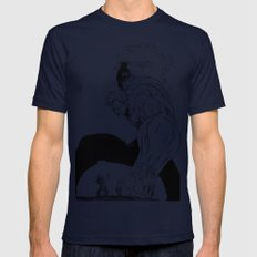 man-ga  Mens Fitted Tee Navy SMALL