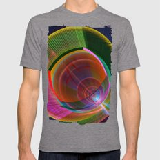 Colourful geometric abstract Mens Fitted Tee Tri-Grey SMALL
