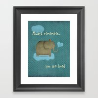 Always Remember Framed Art Print