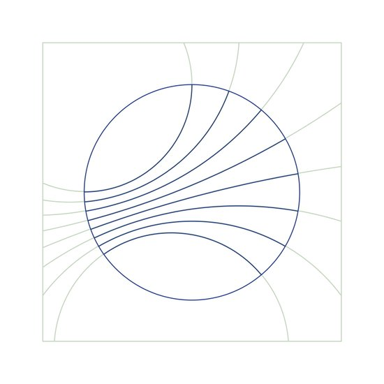 #300 Gravity field – Geometry Daily Canvas Print