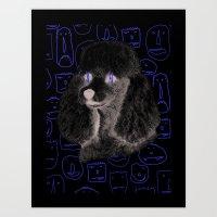 Poodle Print Art Print