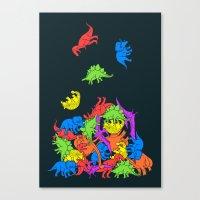 Tetrisaurus Canvas Print