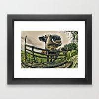 Holy Cow Its A Bull Framed Art Print