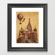 Trip to Moscow Framed Art Print