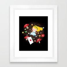 Alice Falling Down the Rabbit Hole Framed Art Print