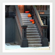 Two Dark Squats, Two Lig… Art Print
