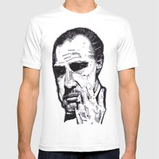 The Godfather SMALL White Mens Fitted Tee