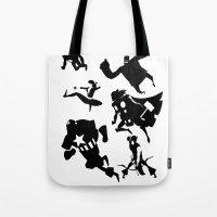 The Avengers Minimal Bla… Tote Bag