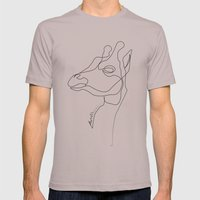Giraffe Line Mens Fitted Tee Cinder SMALL