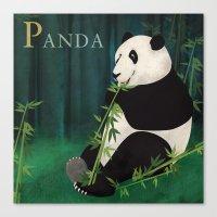 ABC Poster P - Panda Canvas Print