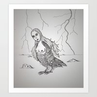 My-thology, The Harpy Art Print