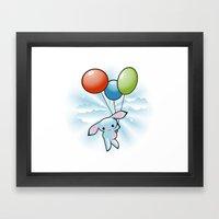 Cute Little Blue Bunny F… Framed Art Print