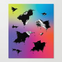 Cosmic Matter and the Neon Spectrum Canvas Print