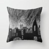 Black City Throw Pillow