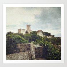 Erice Castle Art Print