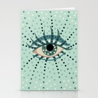 Dots And Abstract Eye Stationery Cards