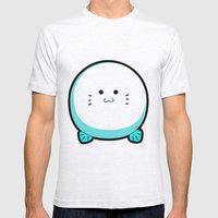 COTTON BALL Mens Fitted Tee Ash Grey SMALL