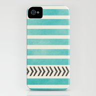 TEAL STRIPES AND ARROWS iPhone (4, 4s) Slim Case