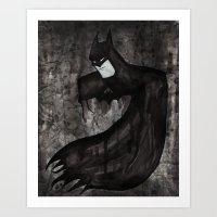 Black Bat Art Print
