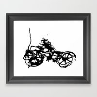 Cyclists Cycle Framed Art Print