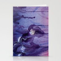 Iris, Blue And Purple Stationery Cards