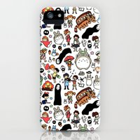 iPhone 5s & iPhone 5 Cases featuring Kawaii Ghibli Doodle by KiraKiraDoodles