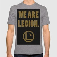 Legion of Superheroes, We are Legion. Mens Fitted Tee Athletic Grey SMALL