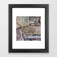 Inlaid Stone Framed Art Print