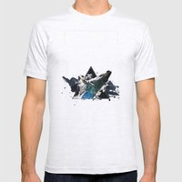 Star Whale Mens Fitted Tee Ash Grey SMALL