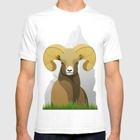 Ram Mens Fitted Tee White SMALL