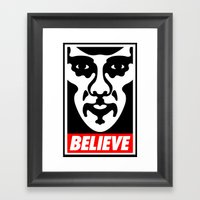Believe - Sherlock Framed Art Print