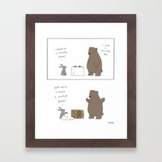 Backup Dinner Framed Art Print