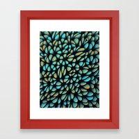 Blue Bloobly Framed Art Print