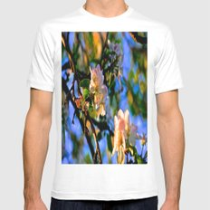 Evening Blossoms SMALL Mens Fitted Tee White