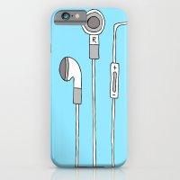 iPhone & iPod Case featuring HEADPHONES by R.Bongiovani