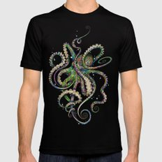 Octopsychedelia Black Mens Fitted Tee SMALL