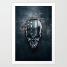 American Horror in Metal Art Print