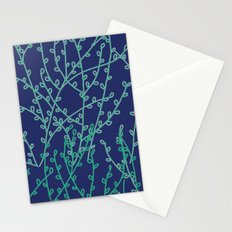 Branches in Blue Pattern Stationery Cards