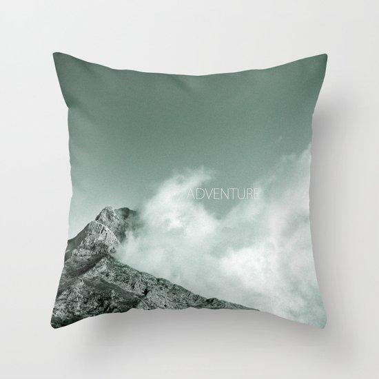 """Adventure at the mountain"" Throw Pillow"