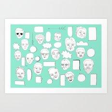 TALK Art Print