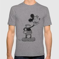 headless mouse Mens Fitted Tee Athletic Grey SMALL