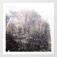 Snow In Early Fall(1)  Art Print