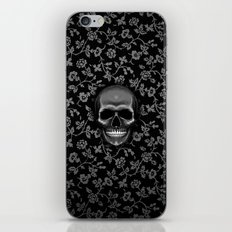 Skull with Floral Pattern iPhone & iPod Skin