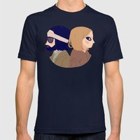 Margot and Richie Mens Fitted Tee Navy SMALL